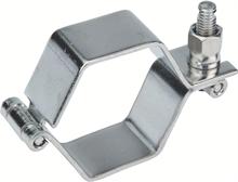 Colliers hexagonaux DIN à charnière sans tige inox 304