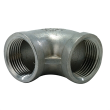 Coudes 90° femelles/femelles inox 316 GAZ