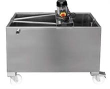 Bacs mélangeurs rectangulaires à roulettes inox 304